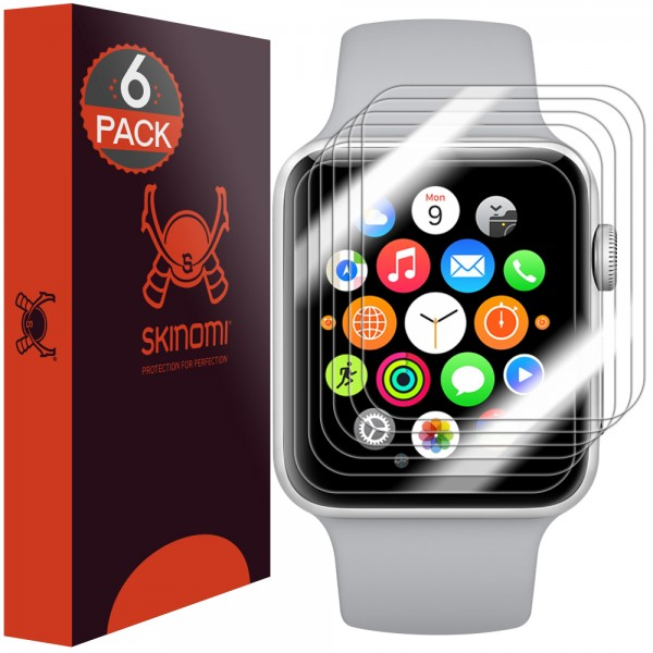 Skinomi - Displayschutzfolie Apple Watch Series 3 (38 mm) 6er Pack