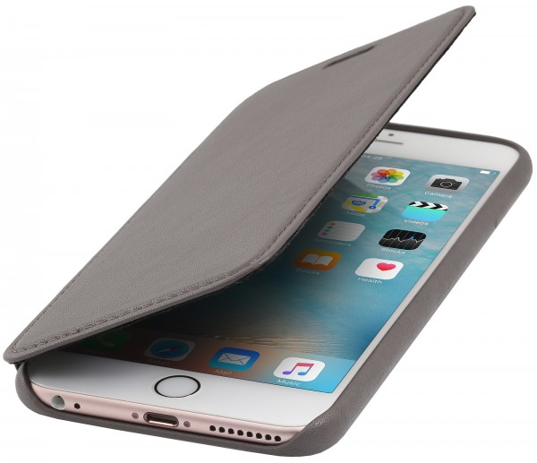 StilGut - iPhone 6s Plus Hülle Premium Book Type aus Leder