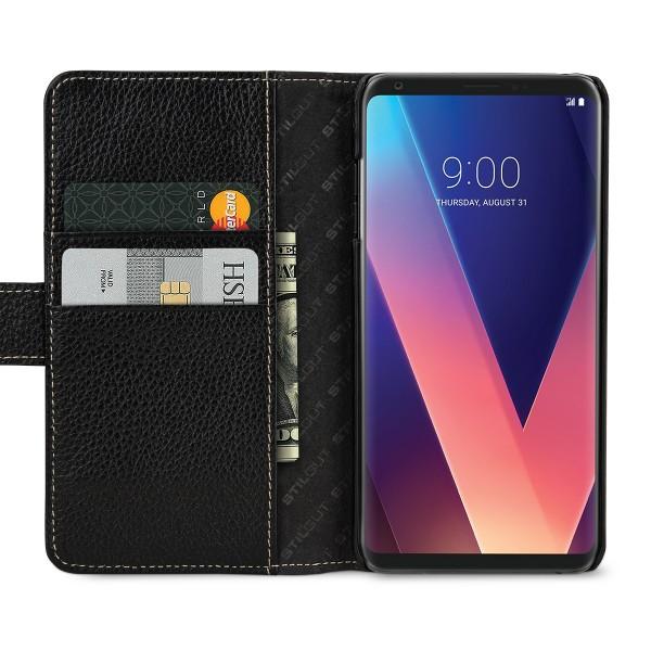 StilGut - LG V30 Hülle Talis mit Kreditkartenfach