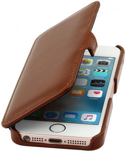 StilGut - iPhone SE Tasche Book Type aus Leder mit Clip
