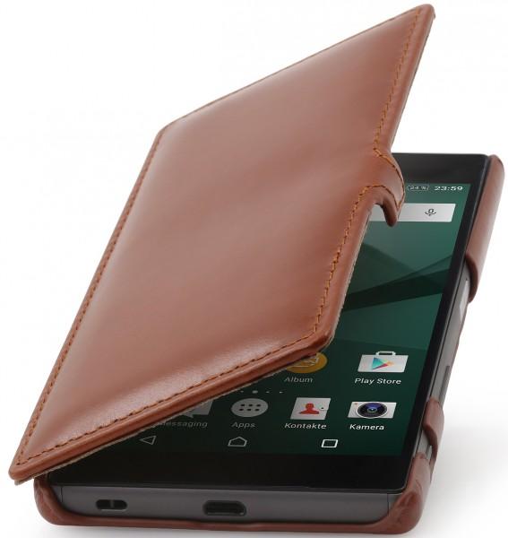 StilGut - Xperia Z5 Tasche Book Type aus Leder mit Clip