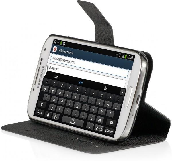 StilGut - Tasche mit Standfunktion für Samsung Galaxy S4 i9500