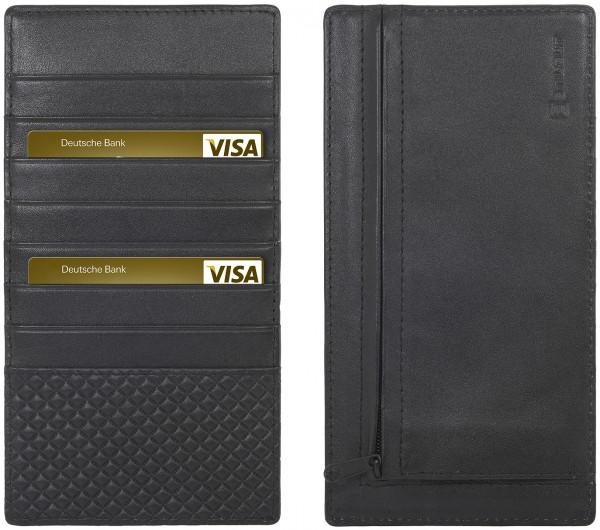 StilGut - Slim Wallet XL aus Leder mit Reißverschluss