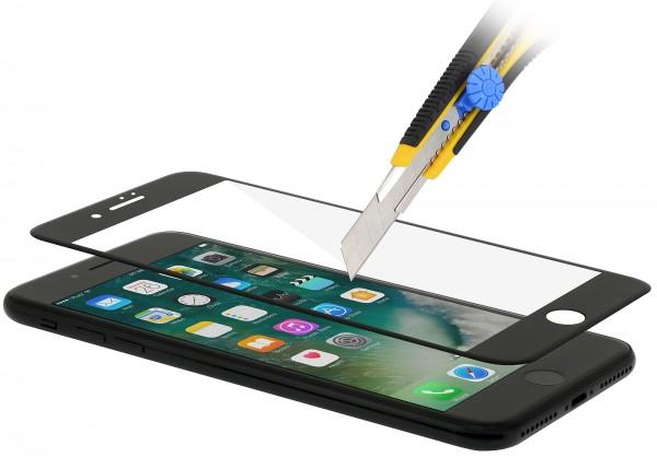 StilGut - Panzerglas 3D curved iPhone 7 Plus mit schwarzem Rand