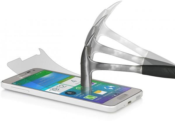 """StilGut - Displayschutzfolie """"Panzerglas"""" für Galaxy Alpha (2er-Pack)"""