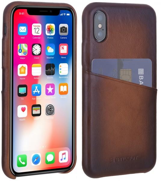StilGut - iPhone XS Cover Premium mit Kartenfach