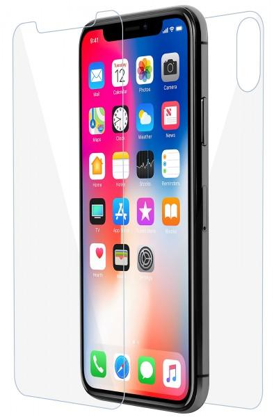 StilGut - Panzerglas iPhone X Vorder- & Rückseite