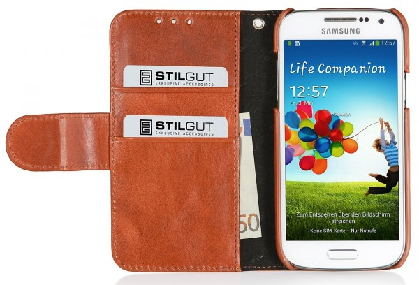 "StilGut - Ledertasche ""Talis"" für Samsung Galaxy S4 Mini i9195"