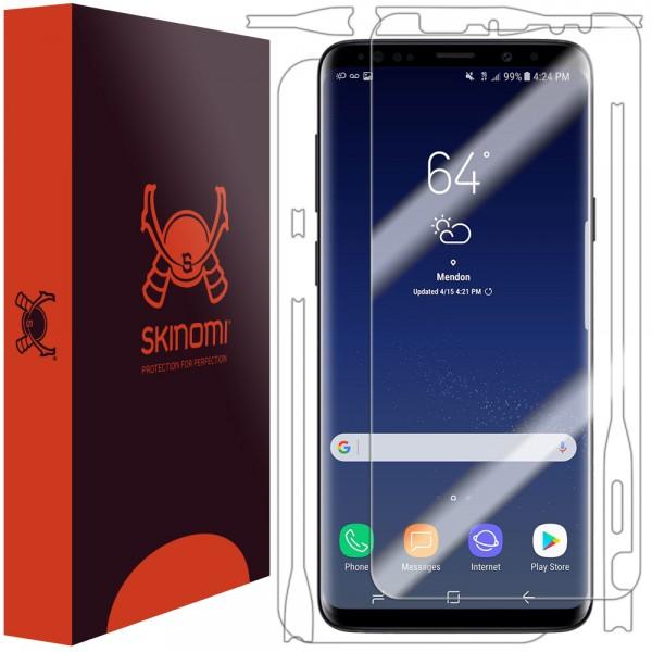Skinomi - Displayschutzfolie Samsung Galaxy S9 TechSkin Full Body