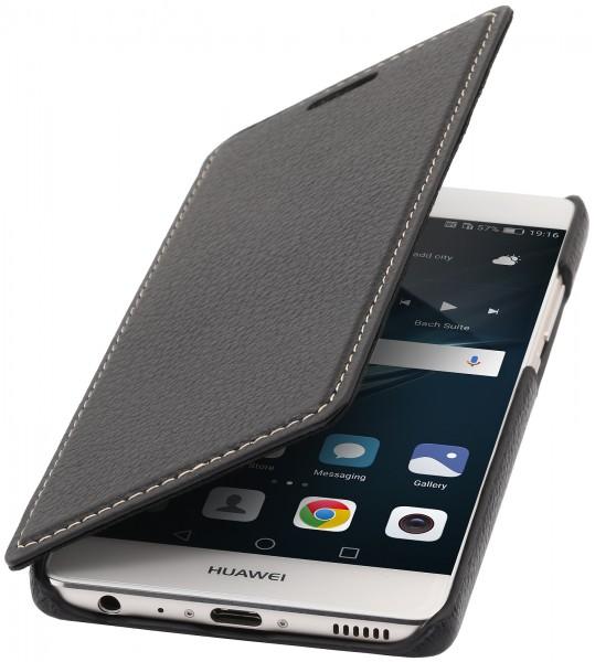 StilGut - Huawei P9 Case Book Type aus Leder ohne Clip