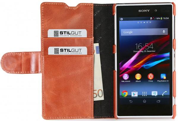 StilGut - Sony Xperia Z1 Ledertasche Talis mit Kreditkartenfach