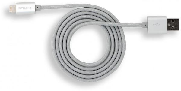 StilGut - Magic Lightning Kabel für Apple Geräte (1 m) silber