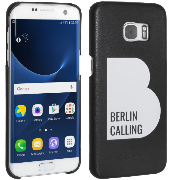 StilGut - Samsung Galaxy S7 edge Cover Berlin Calling aus Leder - Like Berlin Edition