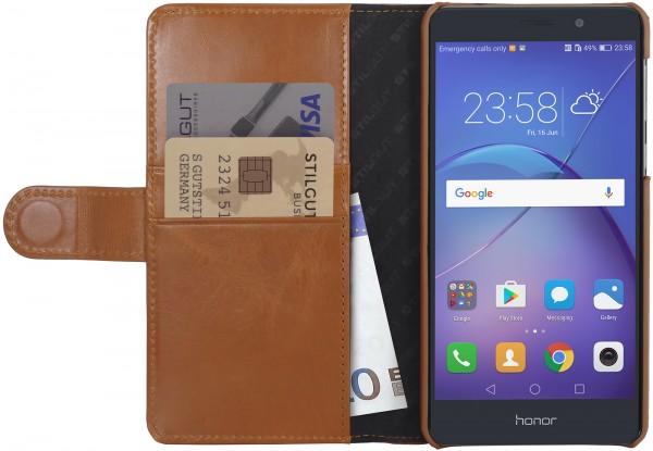 StilGut - Honor 6X Hülle Talis mit Kreditkartenfach