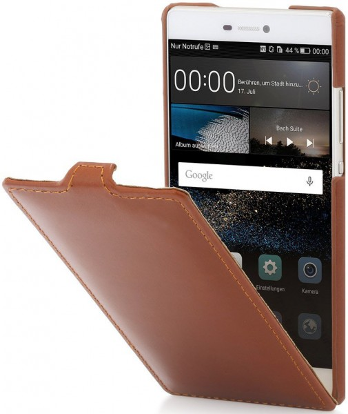 """StilGut - Handyhülle für Huawei P8 """"UltraSlim"""" aus Leder"""