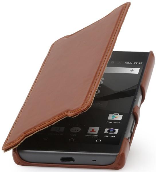 StilGut - Xperia Z5 Compact Tasche Book Type aus Leder ohne Clip