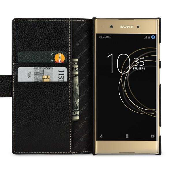 StilGut - Sony Xperia XA1 Plus Hülle Talis mit Kreditkartenfach