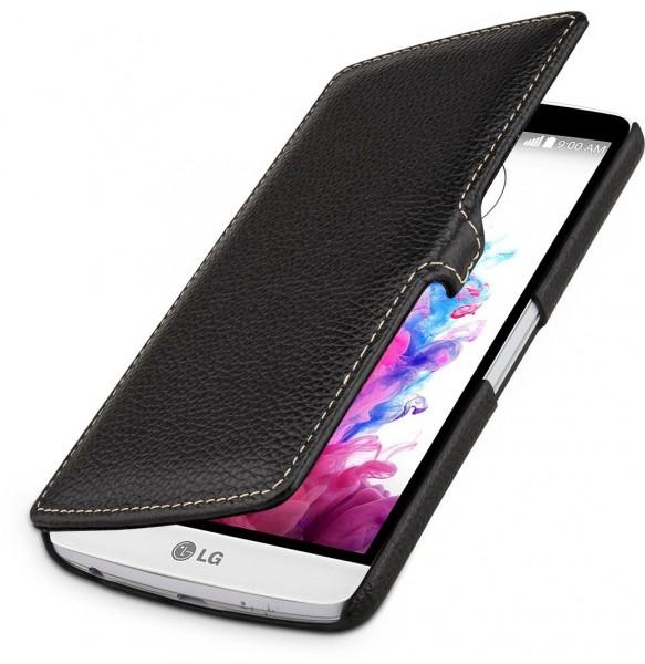 """StilGut - Handyhülle für LG G3 Stylus """"Book Type"""" mit Clip aus Leder"""