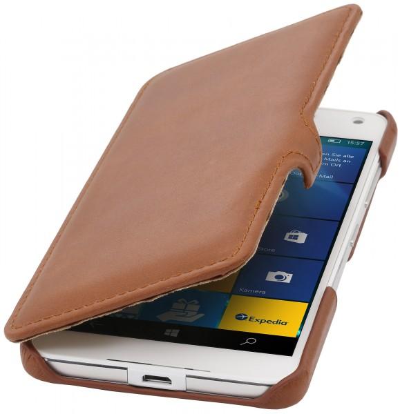 StilGut - Lumia 650 Tasche Book Type aus Leder mit Clip