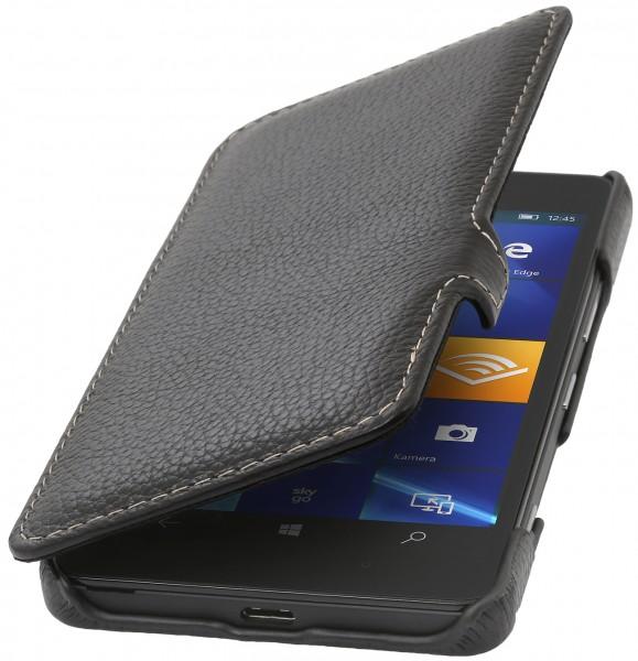 StilGut - Lumia 950 Tasche Book Type aus Leder mit Clip