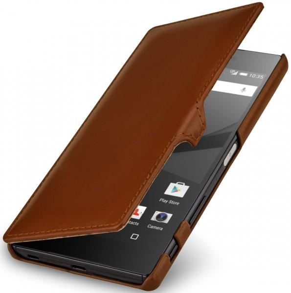 StilGut - Sony Xperia Z5 Premium Tasche Book Type aus Leder mit Clip