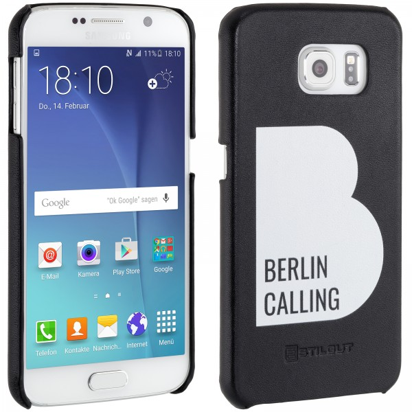 StilGut - Samsung Galaxy S6 Cover Berlin Calling aus Leder - Like Berlin Edition