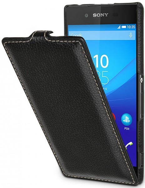 "StilGut - Handyhülle für Xperia Z3+ ""UltraSlim "" aus Leder"