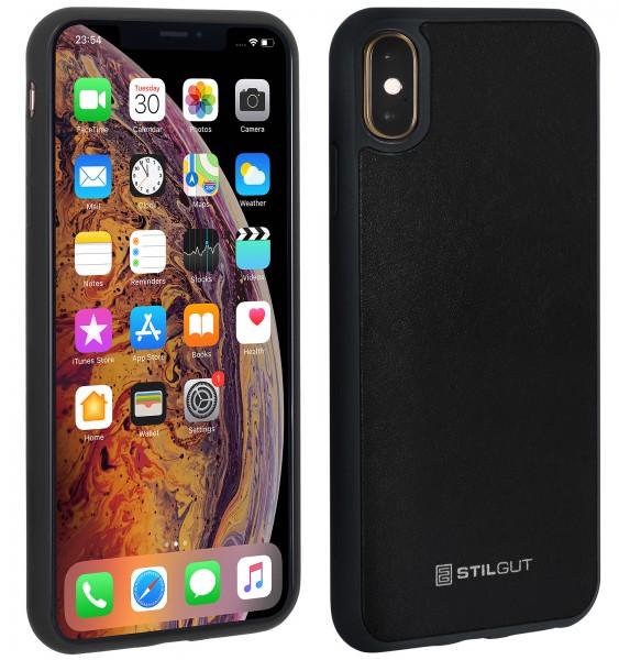 StilGut - iPhone XS Max Case mit Lederrückseite
