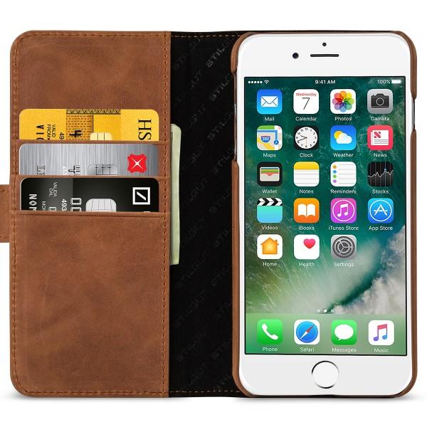 StilGut - iPhone 8 Plus Hülle Talis mit Kreditkartenfach