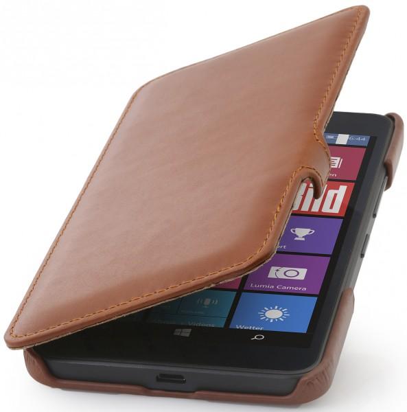 """StilGut - Handyhülle für Lumia 640 XL """"Book Type"""" mit Clip"""