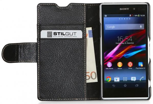 "StilGut - Ledertasche ""Talis"" für Sony Xperia Z1 Compact"