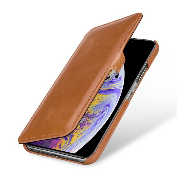 StilGut - iPhone XS Tasche Book Type mit Clip