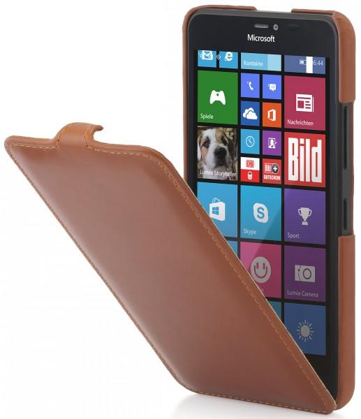 """StilGut - Handyhülle für Lumia 640 XL """"UltraSlim"""" aus Leder"""