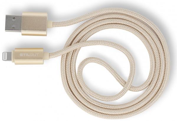 StilGut - Magic Lightning Kabel mit LED-Anzeige für Apple Geräte (1m)