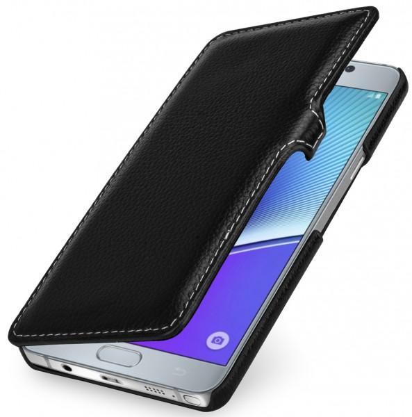 """StilGut - Handyhülle für Galaxy Note 5 """"Book Type"""" mit Clip"""