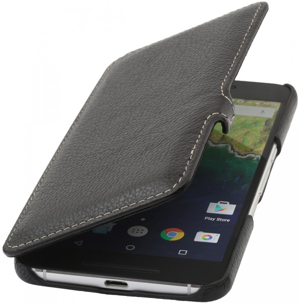 StilGut - Nexus 6P Tasche Book Type aus Leder mit Clip