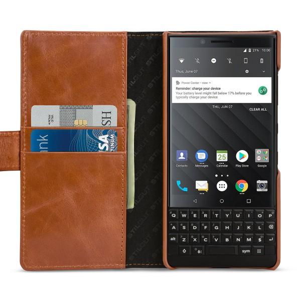 StilGut - BlackBerry KEY2 Hülle Talis mit Kreditkartenfach