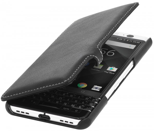 StilGut - BlackBerry KEYone Tasche Book Type mit Clip
