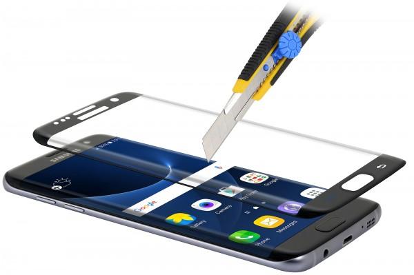 StilGut - Panzerglas 3D curved Samsung Galaxy S7 edge mit schwarzem Rand