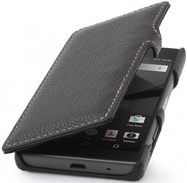 StilGut - Xperia Z5 Compact Tasche Book Type aus Leder mit Clip