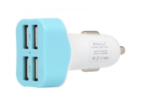 StilGut - Kfz-Ladegerät mit 4 USB Anschlüssen