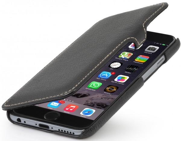 """StilGut - Handyhülle für iPhone 6 """"Book Type"""" aus Leder mit Clip"""