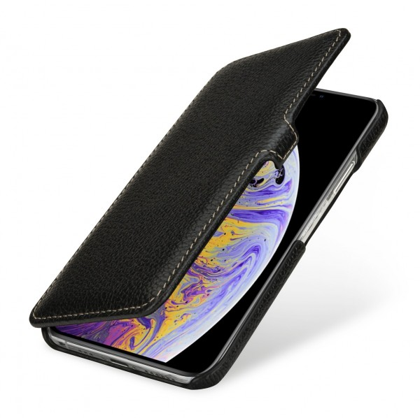 StilGut - iPhone XS Tasche Book Type mit Clip