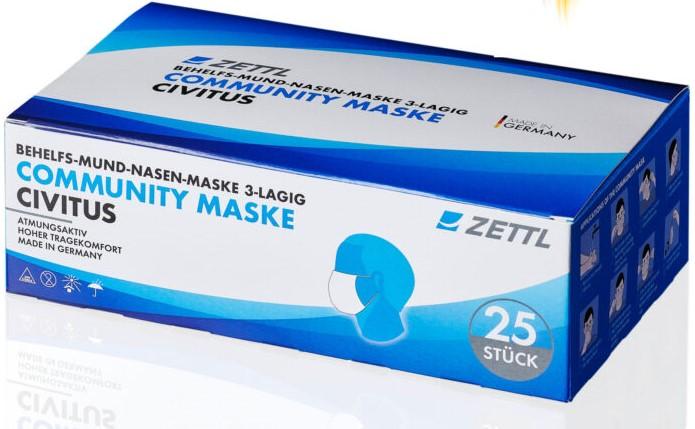 ZETTL Civitus Community Maske 3-lagig mit Ohrschlaufen