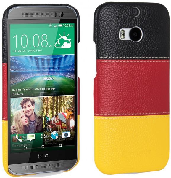 """StilGut - Cover aus Leder """"Deutschland-Edition"""" für HTC One M8 / M8s"""