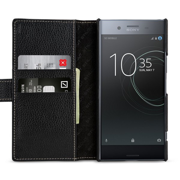 StilGut - Sony Xperia XZ Premium Hülle Talis mit Kreditkartenfach