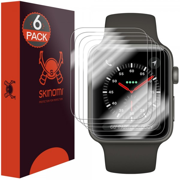 Skinomi - Displayschutzfolie Apple Watch Series 3 (42 mm) 6er Pack