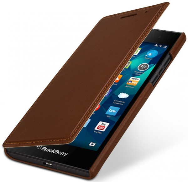 """StilGut - Handyhülle für BlackBerry Leap """"Book Type"""" ohne Clip"""