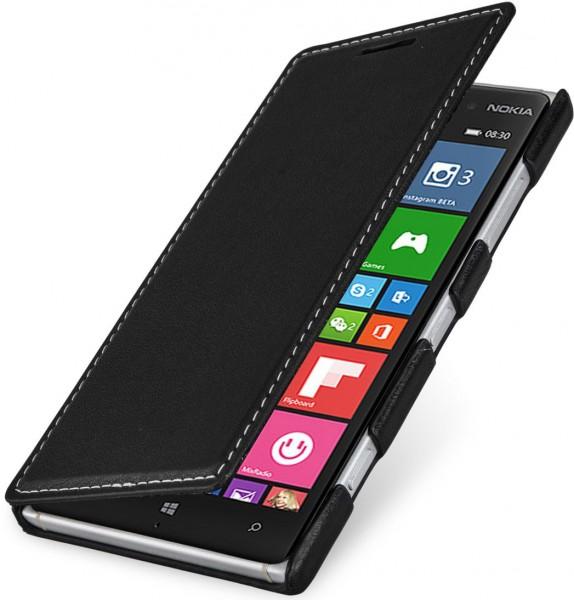 """StilGut - Handyhülle für Nokia Lumia 830 """"Book Type"""" aus Leder"""