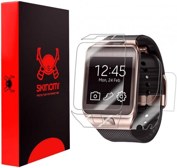 Skinomi - Displayschutzfolie Samsung Gear 2 TechSkin Vorder- und Rückseite